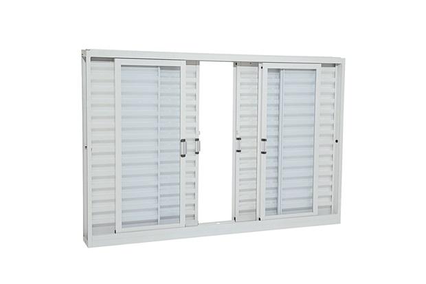 janela veneziana de correr branca 1 20x2 00m ref 21221139 sasazaki c c. Black Bedroom Furniture Sets. Home Design Ideas