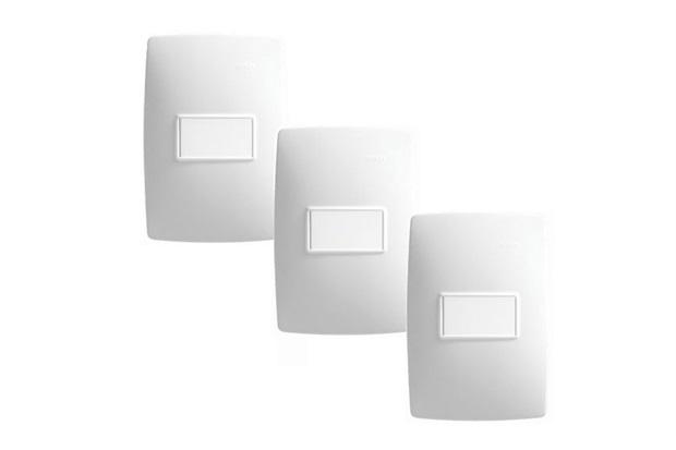 kit com conjuntos de interruptor simples a v linha s simon