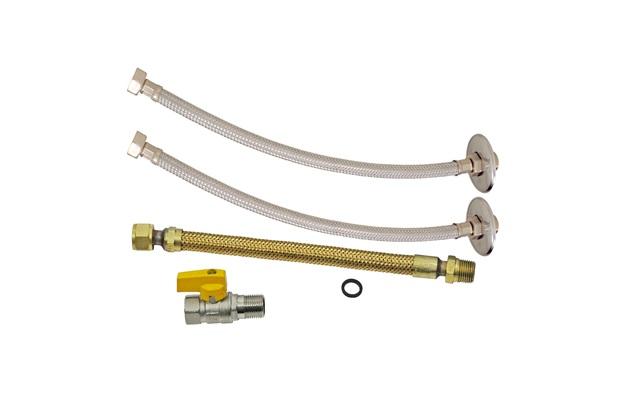 Kit de Instalação para Aquecedor a Gás com 4 Peças 1/2x30cm  - GTRES