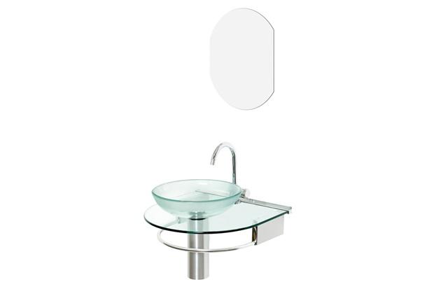 Lavabo jade com cuba de apoio ref 976 50x45 5 cm cris for Gabinete para lavabo