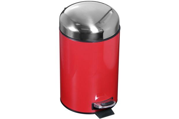 Lixeira Inox 3 Litros Vermelho  - Atlas