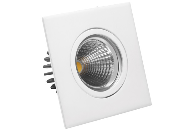 Luminária Led Downlight Quadrada 5w Bivolt Smart 6500k - Brilia