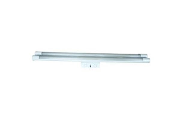 Luminária Tubular para 02 Lâmpadas 40w Branca com Acrílico E Reator Bivolt - Tualux