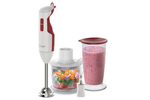 Mixer Delight 3 em 1 Branco E Vermelho 127 V - Oster