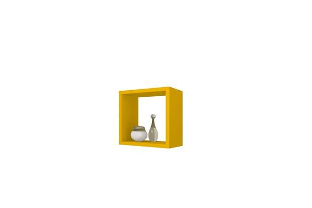 Nicho Aéreo Quadrado Amarelo  Gaam  C&C -> Nicho Banheiro Cec