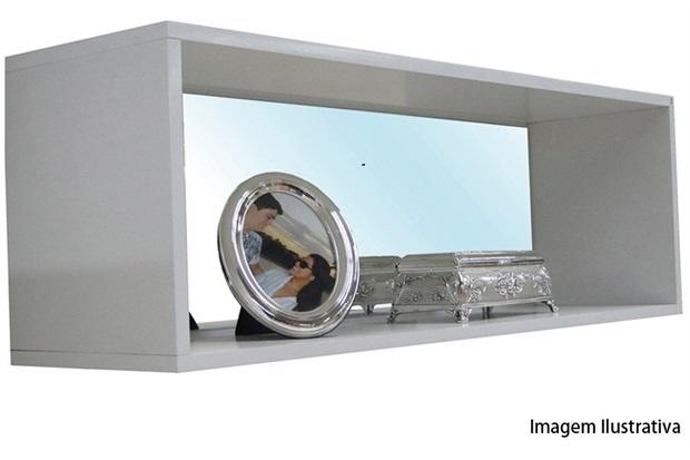 Nicho Retangular com Espelho Branco Ref 16761  Sicmol  C&C -> Nicho Banheiro Cec