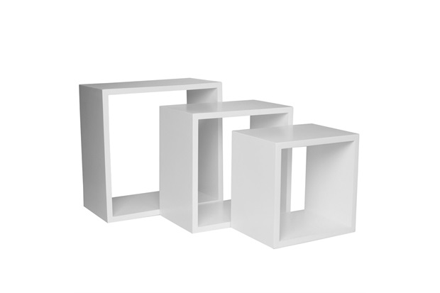 Nicho Trio Branco 35cm  Decorprat  C&C -> Nicho Banheiro Cec