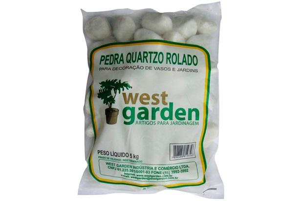 Pedra Quartzo Rolado 5kg          - westgarden