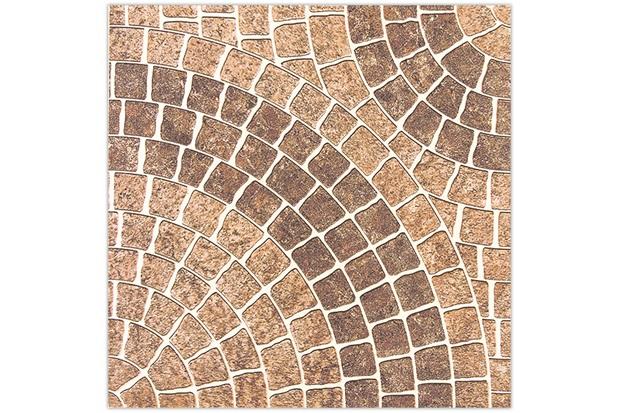 Piso planeta esmaltado baixo brilho marrom 45x45cm for Pisos ceramicos externos