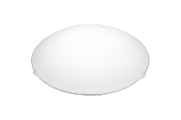 Plafon Clean 25cm Branco com Fixador Fosco - Bronzearte