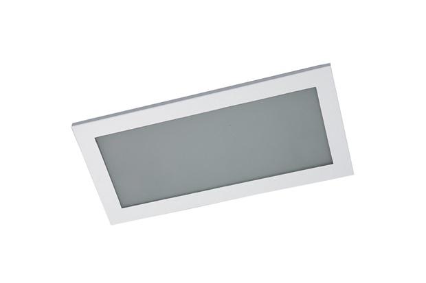 Plafon de Embutir Retangular para 4 Lâmpadas Branco - Pantoja & Carmona