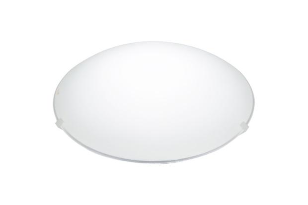Plafon em Vidro Redondo para 1 Lâmpada Clean 25cm Branco - Bronzearte