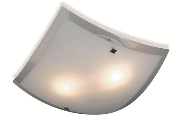 Plafon Toronto para 2 Luzes Quadrado 30x30cm Branco - Bronzearte