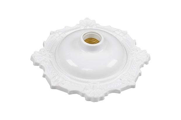 Plafonier Decorativo Bvc para 1 Lâmpada Branco - Pavilonis