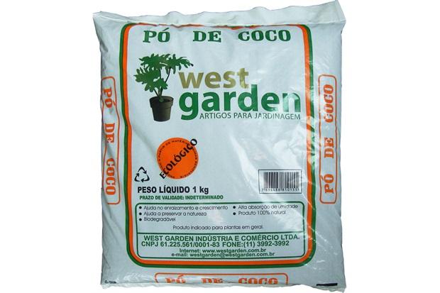Pó de Coco 1kg - West Garden