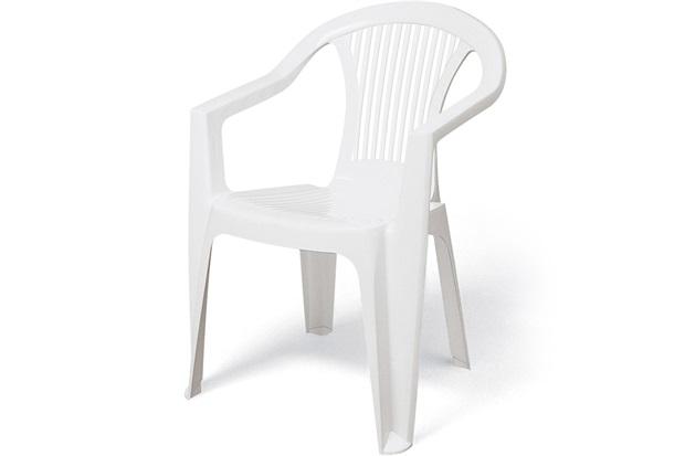 Poltrona de Plastico Guarapari Branca  - Tramontina
