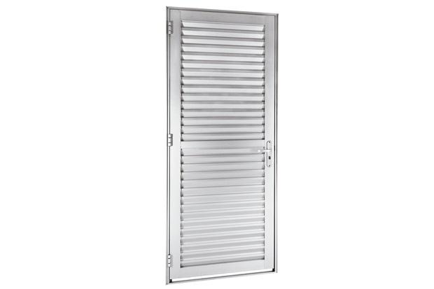 Imagem De Porta ~ Porta em Alumínio de Veneziana Alfort Direita 216x68cm Branco Sasazaki C&C