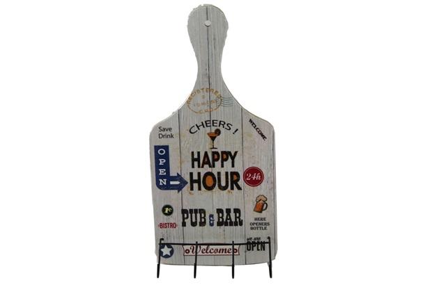 Porta Pano de Prato de Tabua Preto  Beer  - Império Decor