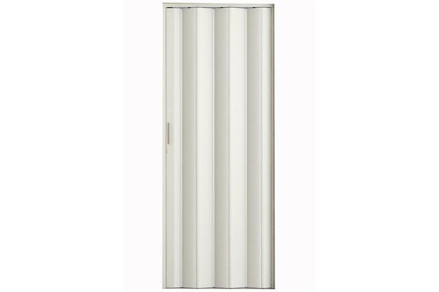 Porta Sanfonada com Puxador E Trinco 210x60cm Branca - Metropac