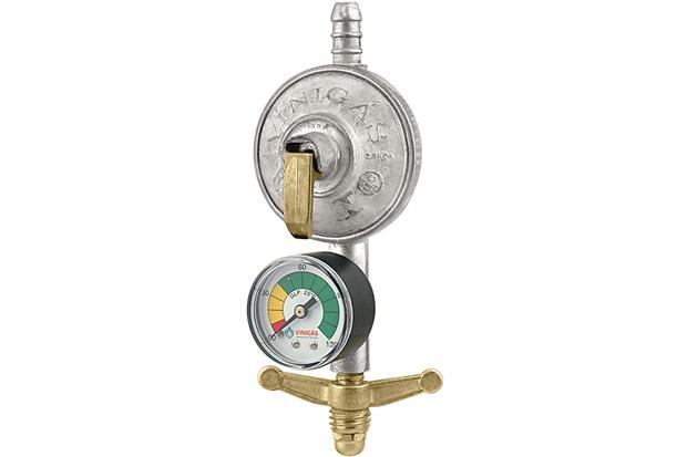 Regulador Simples de Gás com Indicador de Pressão Excel 105-9 - Forusi