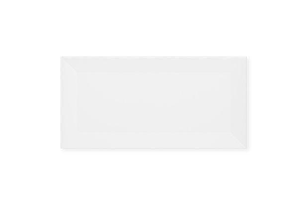 Revestimento Esmaltado Brilhante Borda Bold Metrô White 10x20cm - Eliane