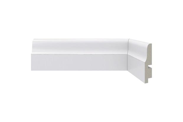 Rodapé em Poliestireno Clássica 442 Branco 6,7x240cm - Santa Luzia