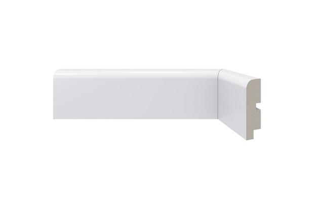 Rodapé em Poliestireno Moderna 446 Branco 7x240cm - Santa Luzia