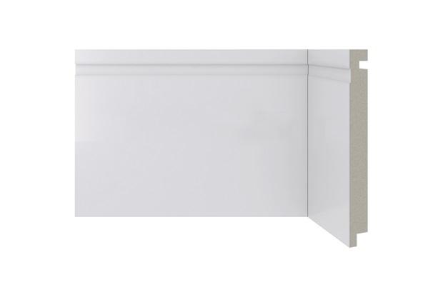 Rodapé em Poliestireno Moderna 480 Branco 15x240cm - Santa Luzia