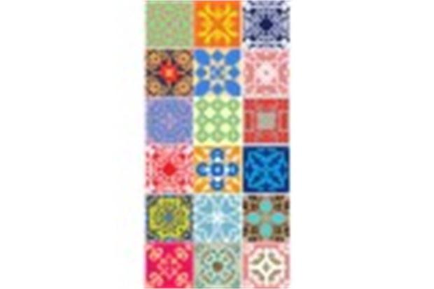 Artesanato Tecido Patchwork ~ Tecido Adesivo Azulejos de Mandalas Panoah C&C