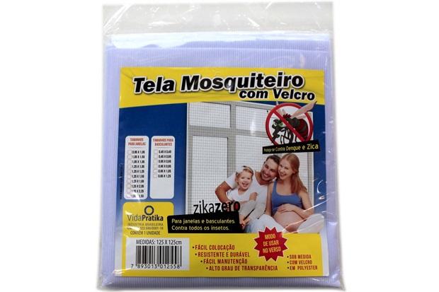Tela Mosquiteiro em Poliéster com Velcro Vida Pratika - Vida Pratika