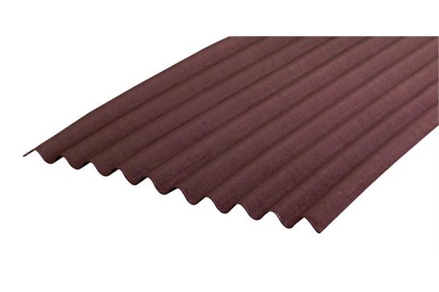 Telha Fibra Ecológica Marrom 2,00x0,95x3mm - Onduline