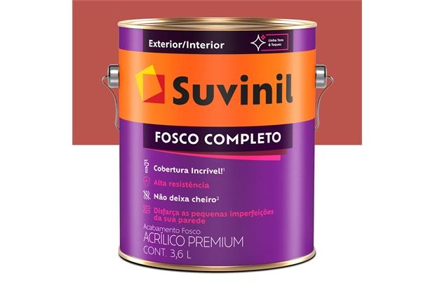 Tinta Acrílica Fosco Tomate Seco 3,6 Litros Ref.: 50564586   - Suvinil