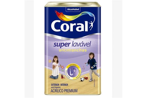 Tinta Acrílica Super Lavável Branco 18 Litros - Coral