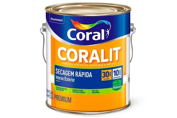 Tinta Esmalte Coralit Zero Acetinado Branco 3,6 Litros - Coral