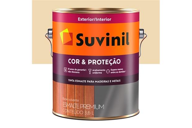 Tinta Esmalte Premium Brilhante Cor & Proteção Marfim 3,6 Litros - Suvinil