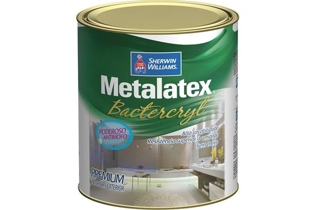 Tinta Metalatex Bactercryl Anti Mofo Branco 900ml - Sherwin Williams