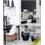 Adesivo de Azulejo 15x15 Modelo Preto E Branco com 16 Peças - Dona Cereja